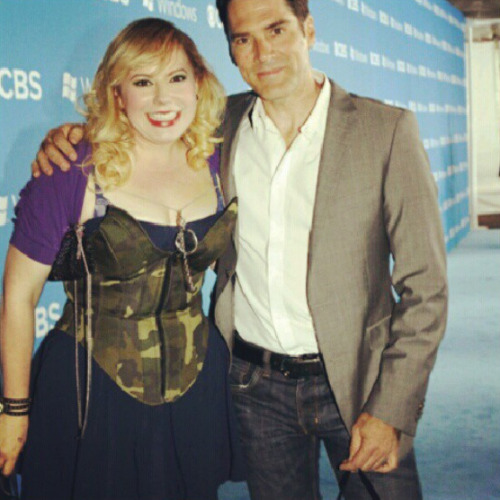 @CBSTweet: #CriminalMinds stars @Vangsness and @Gibsonthomas on the carpet at the #CBS Premiere Party!
