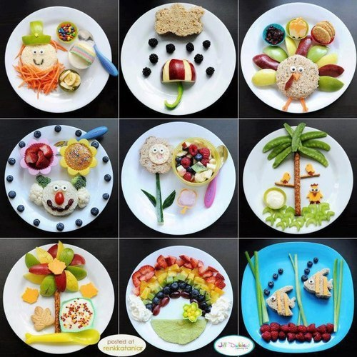 thereluctantrawfoodist:  Some great ways of encouraging children to eat healthy food :)) meltedice-cubes:  I shall do this when Mimi is older! :p so she can eat her fruits and veges.. hehehe   I'm childish. I like childish things.