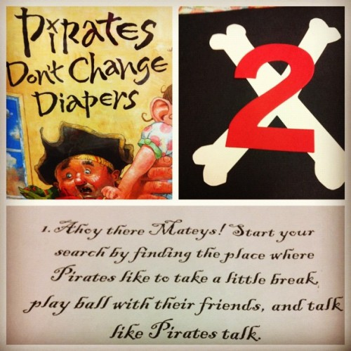 "A few fun activities for ""Talk Like a Pirate Day"" treasure hunt, story, plus  more fun pirate activities!  (Taken with Instagram)"