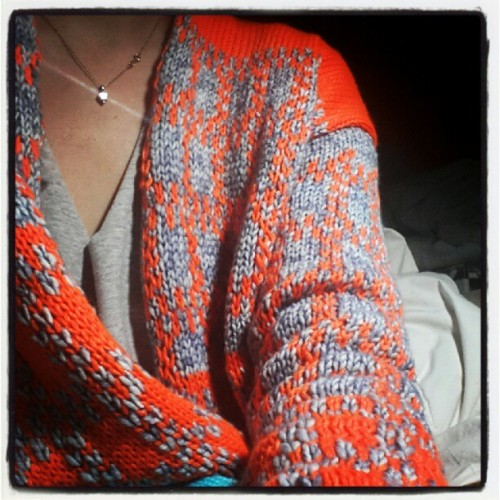 Working on a new cardigan ! #knit #diy  (Taken with Instagram)