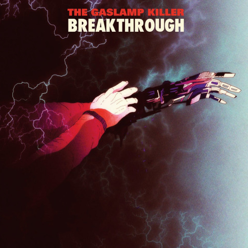 Cover artwork for The Gaslamp Killer and his debut full lenght Breaktrough. This fantastic sounding album was just released on Flying Lotus label Brainfeeder.