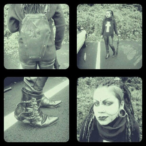 #OOTD.  leather pants are fun! #goth  (Taken with Instagram)