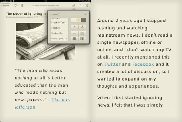 "dyslexic-kids:  Instapaper, a popular app that allows you to store articles so that you can read them at your leisure, now has ""Open-Dyslexic,"" a dyslexia-friendly font.  Read about it here."