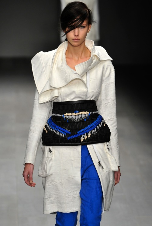 Haizhen Wang was announced as the winner of the 2012 Fashion Fringe at #lfw yesterday. His winning collection was inspired by the works of the Spanish architect Santiago Calatrava, and incporporated a fascination with Japanese armour and historical costume.   Chinese-born Haizhen Wang will now join other notable Fashion Fringe winners including Erdem, Fyodor Golan, Basso & Brooke and Corrie Nielsen. SUBSCRIBERS CLICK HERE FOR THE FULL REPORT