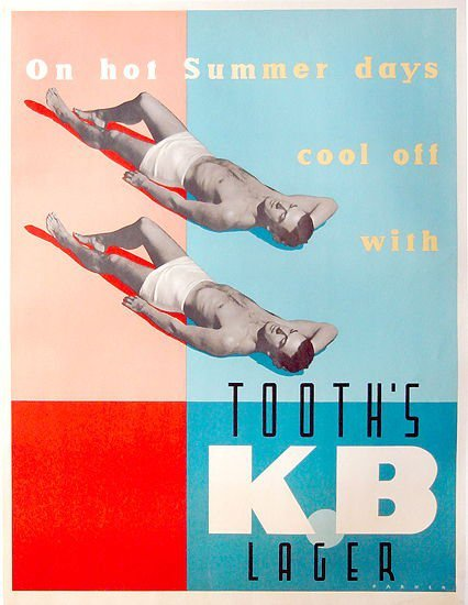 KB Lager advertisement Source: Vintage Advertising and Poster Art