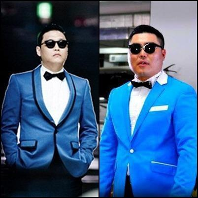 THEY REALLY DO LOOK ALIKE,DON'T THEY?Search Mongolian Gangnam Style on Youtube!The best parody ever;)