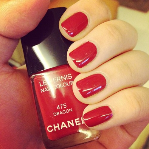 @chanel dragon on my nails! Preparing for the release of Chanel's #fno polishes! #chanel #dragon  (Taken with Instagram)