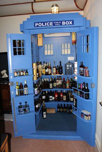 PAR-DIS! The party TARDIS is drunker on the inside (The Doctor would probably not approve of this.) (via MTV Geek - What's New With Doctor Who: Power Of Three Images, Roger Langridge, and Party TARDIS)