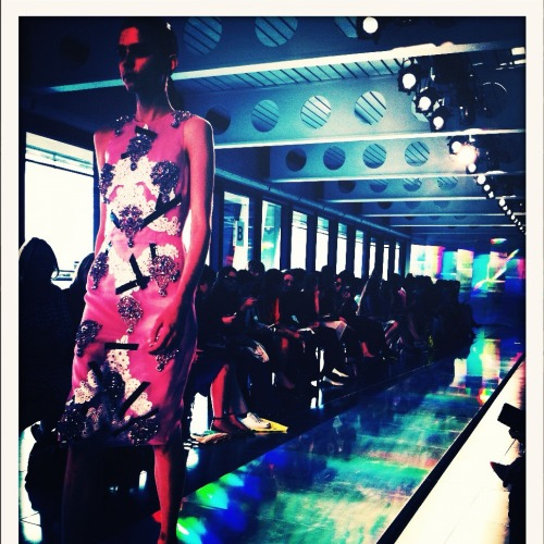 A snap from Christopher Kane, spring 2013 via our Fashion Market Director Sarah Meikle.