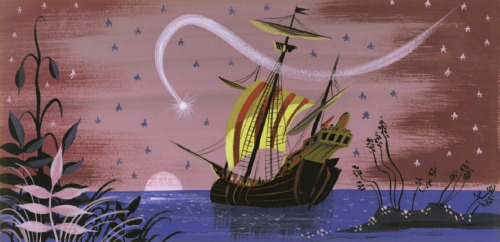 tenthousandonehundred:  Peter Pan concept art by Mary Blair  Mary Blair is amazing.