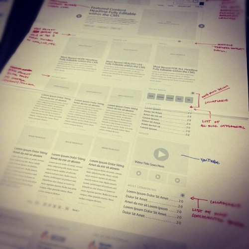 #wireframes #design #webdesign (Taken with Instagram)