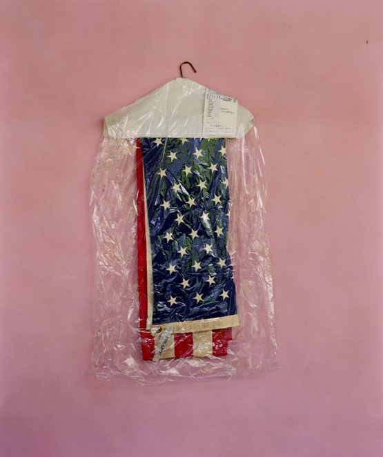 aintbadmagazine:  Mitch Epstein  Just like the Am. flag beach towel I'm using as a rag in the gallery, this piece makes me realize that some stains just won't come out.. related: flags on moon are now white (these colors DO run!)