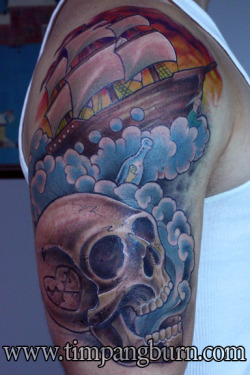 I did this skull and pirate ship a few weeks back. It was a lot of fun, and nice to get a bit outside of the box. Thanks, John!