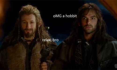 filifeels:  crying  I don't normally reblog Hobbit stuff, because I know most people are tired of the hype by now, but this made me laugh WAY harder than it should have.  So enjoy.