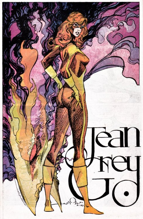 Jean Grey by Walt Simonson #phoenix #cool
