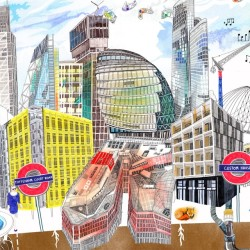 Loving Hennie Haworth's new drawings of London for ARUP