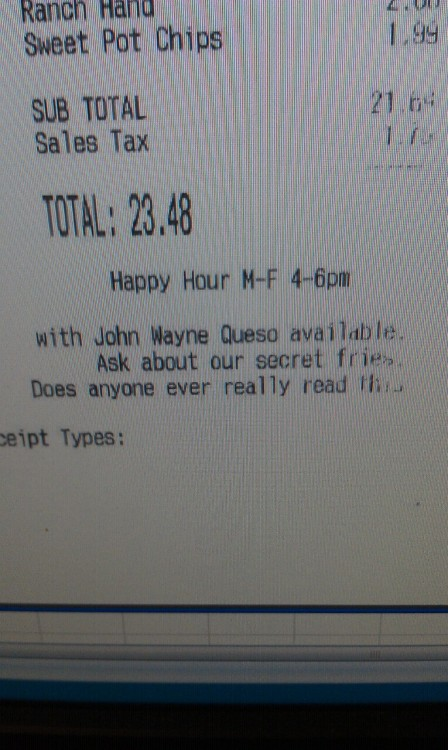 I like this receipt.