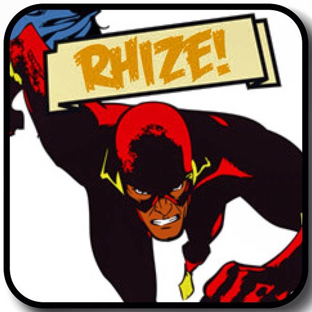 "Name: Flash (Rhize)Powers: Rhize possess ""super-speed"", which includes the ability to Scratch, Cut, Transform and beat juggle extremely fast, use superhuman reflexes and seemingly violate certain laws in any club (He's always getting bann ed in clubs). Personality: The White man's nightmare… An Angry Black Man that just don't give a fuck.See him at A Few Good Men's Hip Hop Supa Hero vs Supa Villain Fancy Dress Party Oct 27th at Hare & Hounds"