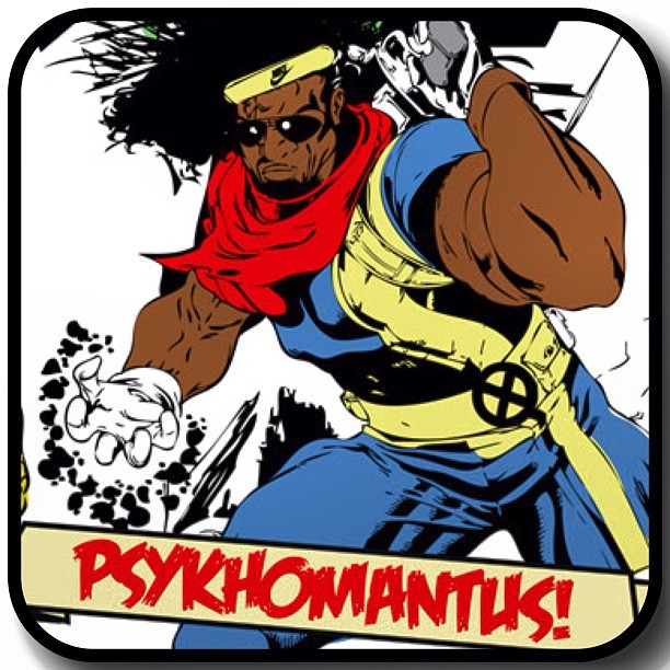 Name: Bishop (Psykhomantus)Powers: Psykhomantus recently has shown the ability to determine his exact location at all times. This may have to do with wack music that was made in the past. Psykhomantus is a trained turntablist, skilled in  the homicide branch. Psykhomantus has also had many years of DJ Battles which has made him a very dangerous DJ (Not afraid to call out any DJ's name), both from his own time, the future or present. He's a time traveler, stupid.Personality: Unknown but his weaknesses are big boobs.See him at A Few Good Men's Hip Hop Supa Hero vs Supa Villain Fancy Dress Party Oct 27th at Hare & Hounds