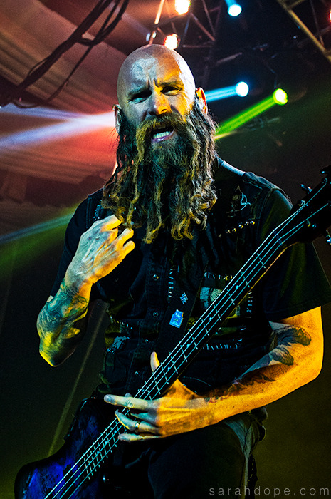 Chris Kael of Five Finger Death Punch on the Trespass America Festival in Hollywood, CA. Taken August 28, 2012.