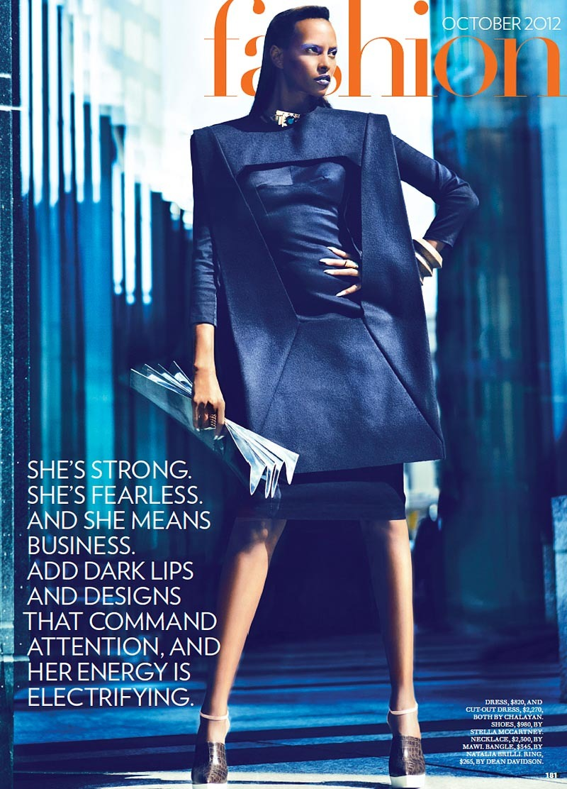 Yasmin Warsame for Fashion Magazine October 2012 photographed by Francisco Garcia