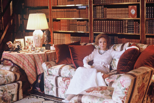 Mrs. Astor reigning in her library on the Upper East Side