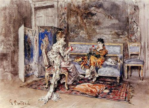 Giovanni Boldini, The Conversation, 1870.