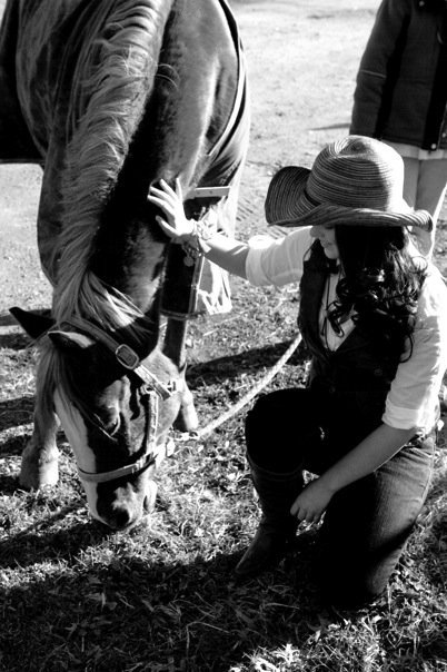 Me modeling with a gorgeous horse <3 They're so beautiful.
