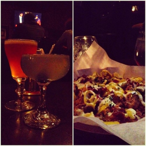 "Date last night. #LionsTail #Aviation #Cocktails and the best #calamari @jessscaaa and I have ever had… Can we say, ""#Bacon""!? (Taken with Instagram at Herbs & Rye)"