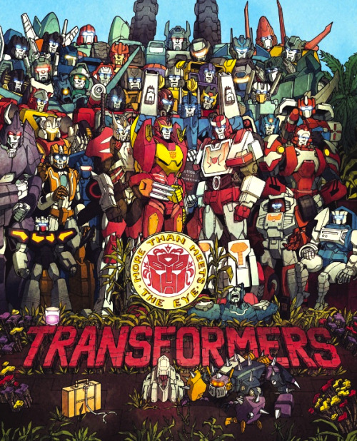 """Sgt. Rodimus' Lonely Sparks Club Band""? The Transformers: More Than Meets the Eye #12, Cover R1 (December 2012)"
