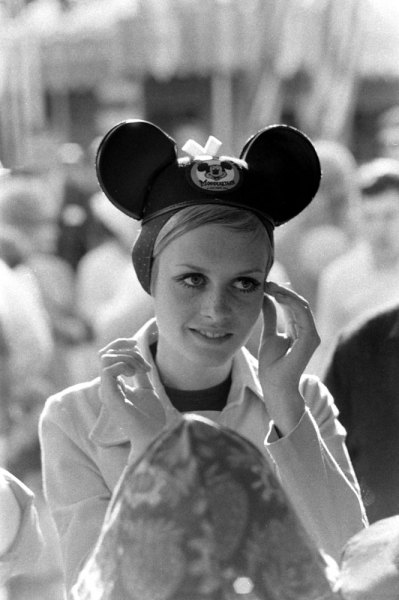 theswinginsixties:  Twiggy visits Disneyland, 1967. Photo by Ralph Crane.