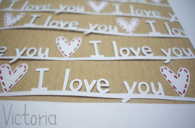'I love you' papercut