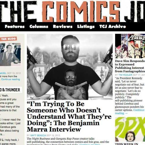 traditionalcomics:  Matt Seneca interviews me for The Comics Journal.