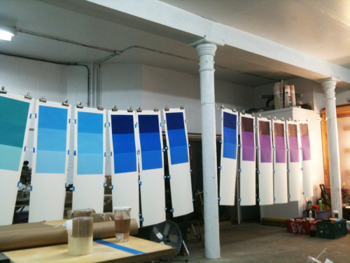 gottlund:  Printing Sam Falls, Light Over Time at LQQK STUDIO in Brooklyn.