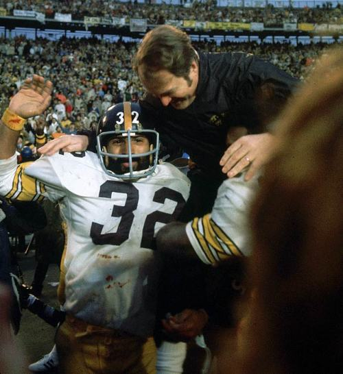 Franco Harris and Chuck Noll