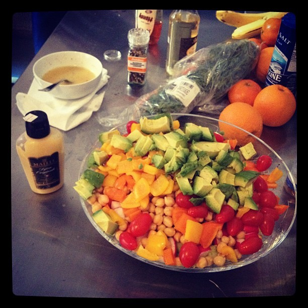 s-m-i:  @percolate salad strategy. #healthiestcompanyever (Taken with Instagram at Percolate HQ)