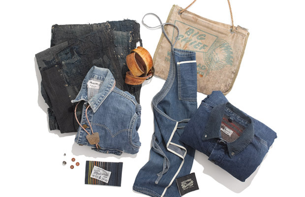 madewell:  It's back! Our limited-edition heritage denim collection, Rivet & Thread, returns for fall—this time inspired by these supercool things you see above. Specifically, vintage Madewell pieces from our own archive (that dates back to 1937), a waxed heavy-canvas water bag we picked up in Wyoming and a hand-sewn patchwork blanket made from indigo fabric scraps, to name a few. Get to know our premium small-batch denim here.