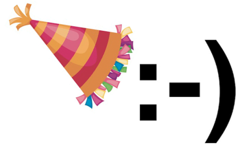 "kqedscience:  Today, the Emoticon Turns 30 :-) ""On this auspicious day, it's worth stepping back for a moment to consider the birth of the symbol that is, in every possible way, iconic. The emoticon was born on the Internet. And, like many things that sprang to life during the early days of the World Wide Web, it emerged as the result of much deliberation. It emerged, actually, as the result of an extremely nerdy joke about elevators. "" Read more here.   I got a free cookie today because of this.  They were giving away t-shirts and stuff too."