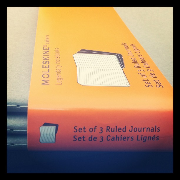 nickyolea:  Got some new journals. Love @Moleskine & gift cards to @Barnes&Noble #amwriting #books (Taken with Instagram)  These are fun to write in too :)