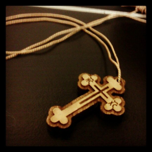 dorcah:  Love my new wooden #cross #orthodox (Taken with Instagram)