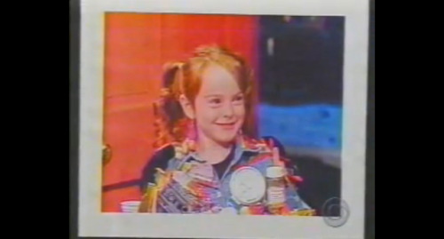 Lindsay Lohan's First TV Role Involved Being Dressed As Garbage On 'Letterman'