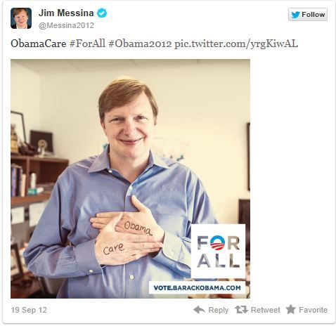 BREAKING:  Obama campaign manager Jim Messina tweets out a creepy picture of himself.