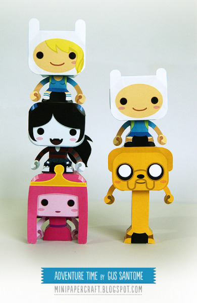adventuretime:  Here. Print. Make. brandonnn:  (via Mini Papercraft: Adventure Time)   i wish i had a printer