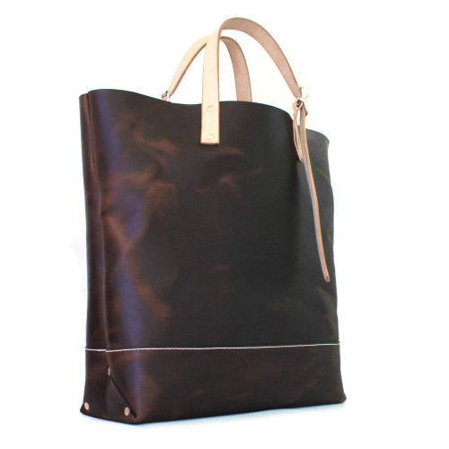 (Slightly) Redesigned Market Tote w/a 3 panel construction.  Breaks the look up a bit and adds the possibility of two-toned color blocking.  Whole new line of fall/winter colors available too!