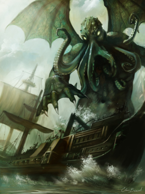 distortus:  Attack of Cthulhu by PixelObsession