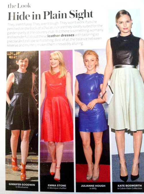 We love this month's InStyle showing a bevy of leading ladies in leather dresses. Shop the look for less at Oasis right now! http://oasis.andotherbrands.com/leather?lng=en-US&ctry=US