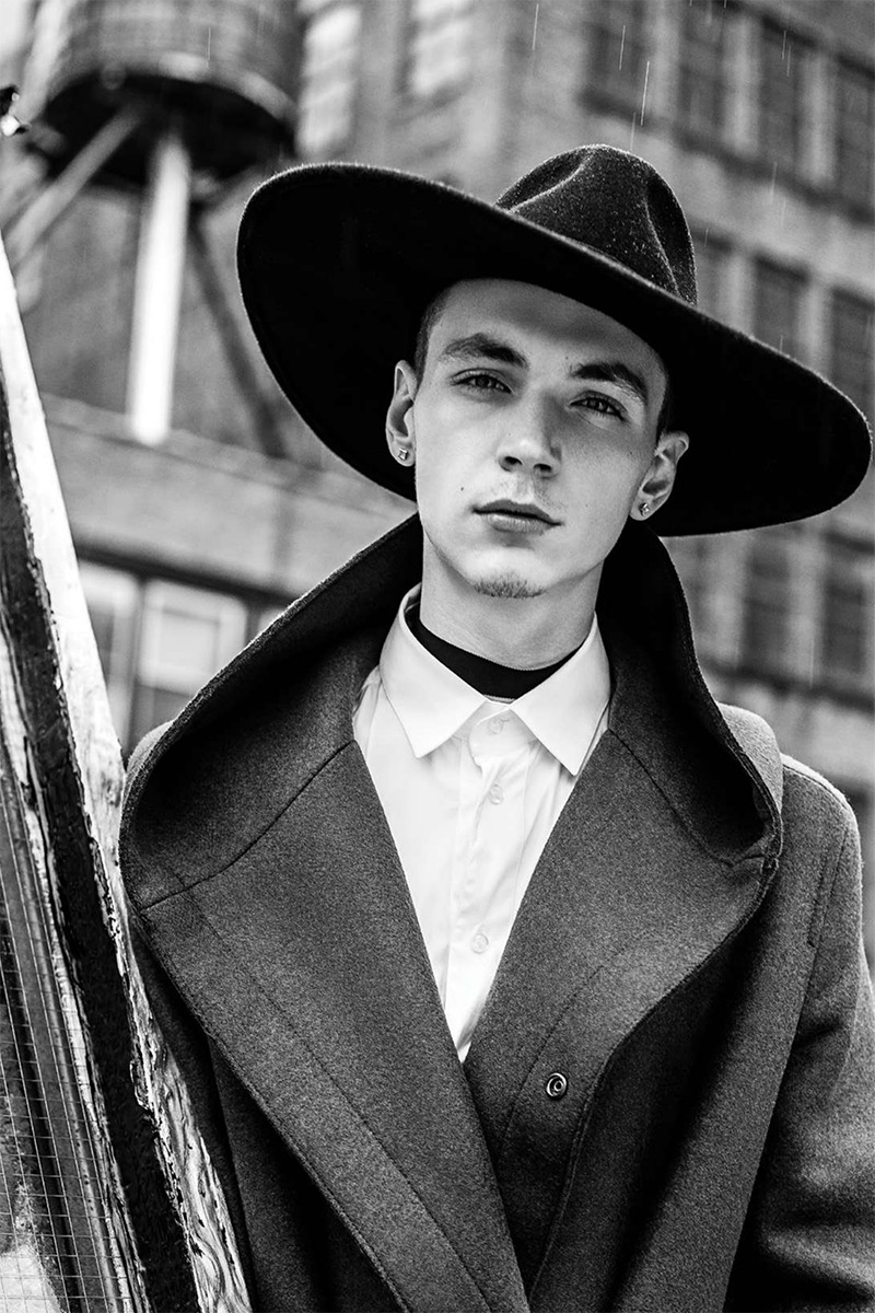 Yuri Pleskun | Photographed by Jens Ingvarsson; Fashion direction by Carl Barnett and styled by James Rosenthal for The Fashionisto Magazine #5 [ b&w | fave models | 1000+ notes | facebook ]