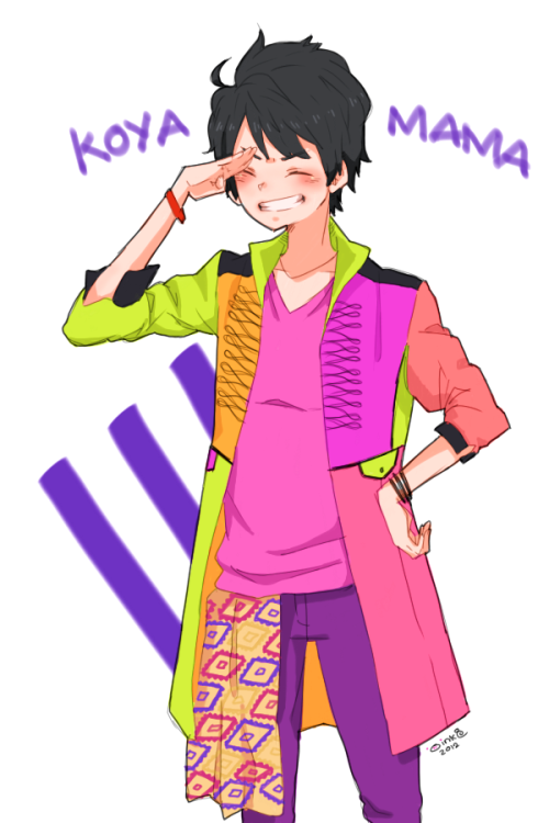 YEEESSS it's koyamama~! i just love this outfit they wore on the concert!! so colorful and full of energy!! > u <)/ im looking forward for their live dvd //saves money i kinda liked coloring like this! all these bright colors! makes me want to draw mooore! gonna do other members next… in my free time XD