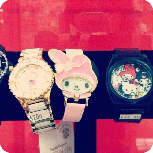 Spotted at the Sanrio store in San Francisco: this My Melody watch ♡_♡