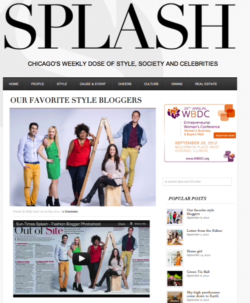Splash names Racked Chicago editor Jared Hatch one of its favorite style bloggers.